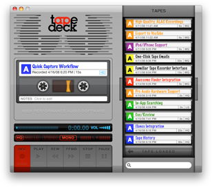 Reduced-size TapeDeck Screenshot